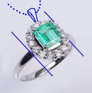 エメラルド指輪リフォーム