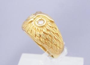 フクロウ指輪