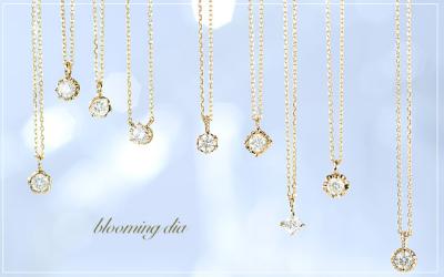 シンプルダイヤモンドネックレス