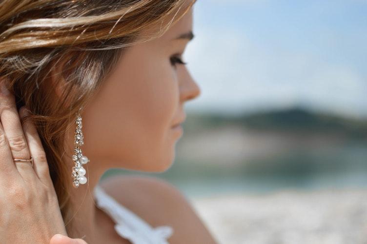 真珠のイヤリングピアス加工