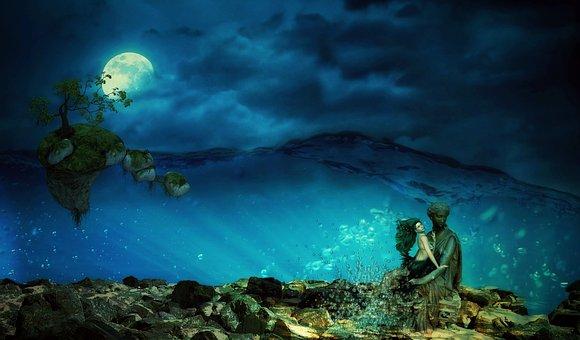デュモルチェライト・イン・クォーツ:ルチルが描く幻想の青
